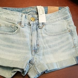 American Eagle high rise shortie Blue Jean Shorts